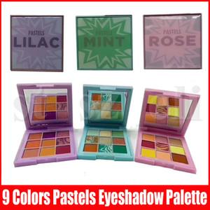 Neue Augenschminke-Paletten-Schimmer Matt Glitter Metallic pigmentierte Tragbarer 9 Farben Pastell Rose Mint Lila Augen bilden Paletten-kosmetischen