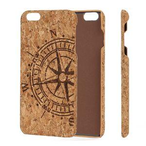 UI Blank Cork Holz Telefon-Kasten für iPhone 6 6s 7 8 X 6Plus 7Plus harten PC Zurück Schmutz-beständig Protect-Handy-Fall