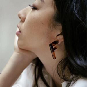 2020 Moda Exagerar letras Leopardo Transparente Acrílico Big F Pendientes para Mujeres Girls Jewelry Regalos Fiesta