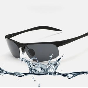 Al por mayor-Nueva manera de magnesio y aluminio polarizadas deporte gafas de sol para la Policía del motorista piloto fresco Gafas de tiro Para Hombres Mujeres 8177