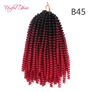 14inch natural lenght Spring Twist Crochet Braids Hair Extension Ombre Blonde Bouncy Marley Twist Crochet Braids Hair Extensions jumbo braid