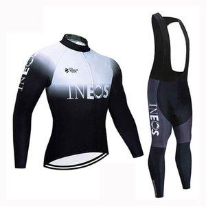 Uomini autunno Primavera INEOS squadra di ciclismo maglia Set Tour de France manica lunga vestiti MTB strada in bicicletta abiti ciclo sportivo Y20031402