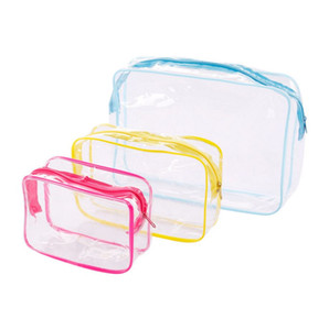 New Travel PVC Cosmetic Bags Women Transparent Clear Zipper Makeup Bags Organizer Bath Wash Make Up Tote Handbags Case (Retail)
