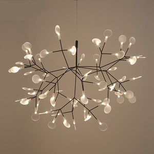 Modern Heracleum Tree Leaf Lámpara colgante Lámpara LED Lámparas de suspensión Sala de estar Art Bar Iron Restaurant Home Lighting AL12
