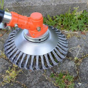 200mm fil d'acier Tête de coupe Herbe débroussailleuse dépoussiérant Herbe Plaque pour tondeuse à gazon T200115