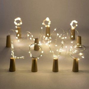 20LED String Lamps Wine Bottle Stopper Light White Warm white Blue Green Red Cork Shaped For Party Wedding Decoration