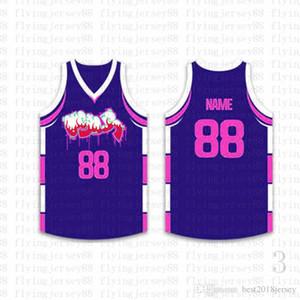 Top Custom Basketball Jerseys Mens Bordado Logos Jersey Envío Gratis Barato al por mayor Cualquier nombre cualquier número Tamaño S-XXL osh520