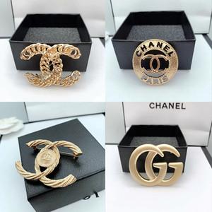 Nouveau mode exquis perle de luxe Broche Broche simple lettre Broche Broches femmes élégantes Bijoux fantaisie Vente chaude