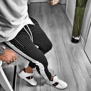 Mens Fashion Designer 2020 Striped Trousers High Quality Brand Sweatpants New Arrive Sport Jogger Pants 2 Colors New Style Hot Sale