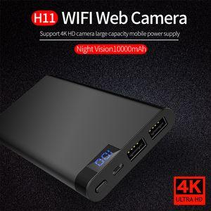H11 wifi power bank cámara IP HD 4K 1080P IR visión nocturna power bank mini cámara grabadora de video de voz digital videocámara de seguridad para el hogar