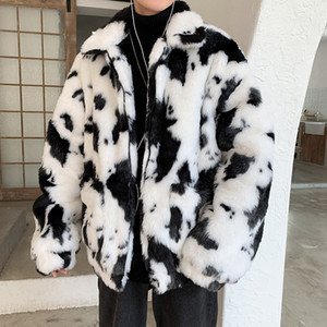 Mens Luxury Fur Coats Faux Fur Jackets Outerwear Parka Overcoat Big Size 3XL Lovers Cow Leather And Fur Keep Warm Man Loose Coat