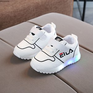 shoes New fashion hot sales cool children Mesh Cute fashion Athletic&outdoor kids shoes LED leisure baby girls boys shoes footwear