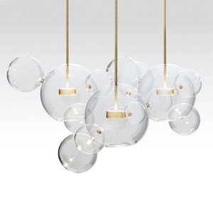 Moderno, minimalista, LED, sospensione, illuminazione, sapone, bolla, palla vetro, appeso, lampada, soggiorno, camera da letto, sala da pranzo