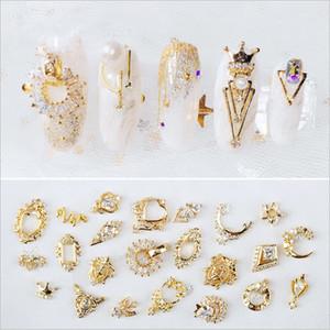 Mode 20 Arten Verschiedene Arten Nail Art Nail Dekorationen Glitter Legierung Schmuck Strass DIY Nagelzubehör