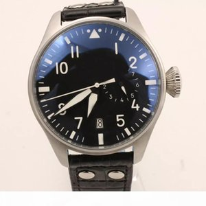 Hot Sale IW Brand Automatic Mens Watch Limited Top Gun Men Black Dial Leather Band Pilot Men Watches Montre Homme
