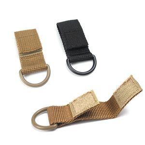Outdoor Tactical Nylon Webbing Mini Zaino Hang Buckle I-shaped Moschettone multifunzione D-tipo Anello appeso Portachiavi