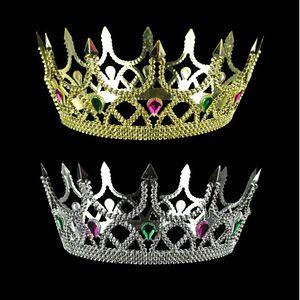 Kunststoff Crown Haarbänder Kind Geburtstag König Headwear Kind Goldsplitter Farbe Crown Prince Head Hoop 2 8rx L1