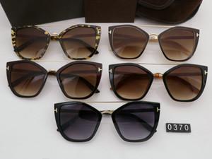 2019 nuevas gafas de sol de personalidad de ocio para hombre mujer gafas de sol tom diseñador gafas de sol UV400 ford moda gafas de sol al aire libre TF0370 con caja