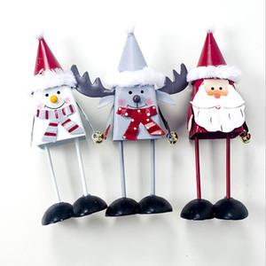 Новые рождественские украшения 2019 Окрашенные Железный 3D Снеговик Творческий Elk Белл украшения Новогодние украшения для дома натальной Decor