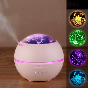 Ufficio umidificatore Aroma diffusore ad ultrasuoni 150ml lampada del proiettore di luce LED Night essenziale aromaterapia Diffusore creatore della foschia Home Baby