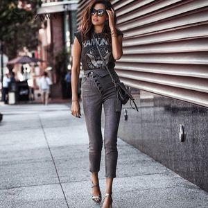 Street hohe Taillen-Knöchel-Längen-Jeans Bodycon Frau 2019 Herbst Elastic Multi-Taste Gary Bleistift-Denim-Hosen Frauen Mom Jeans