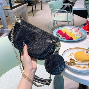 womens 2020 luxury designer handbags messenger bags western fashion chest bag Coin purse diamond checkered stray bagbef5#