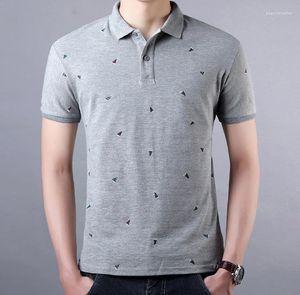 Solapa de la manga corta para hombre camisetas Hombre Casual Tops para hombre Moda Hombre Ropa de onda Punto Polos Verano