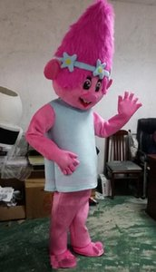 Vente en gros de haute qualité chaude nouvelle Direction Trolls Costume Mascot Parade Qualité Clowns Anniversaires Troll partie de fantaisie Dresss