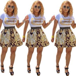 Горячие женщин Ночной клуб партии юбки платья лета богемского Цветочные Printed Сборки Хем с коротким рукавом O-образным вырезом Мини платье S-XL