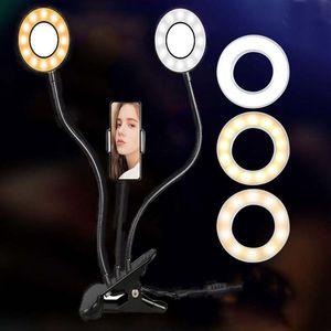 LED التصوير الدائري ضوء الهاتف الجوال سطح المكتب لايف الفيضانات مصباح صورة شخصية التصوير ماكياج مرساة تجميل التصوير