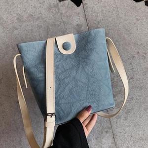 banabanma femmes PU Boucle magnétique Bucket simple sac à bandoulière Cross-Body pour Campus commercial