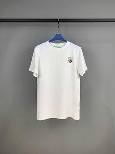 100% OFF New Arrival Top Quality Brand Designer Men Women T-Shirt Fashion Print Tees White Short Sleeve 2142