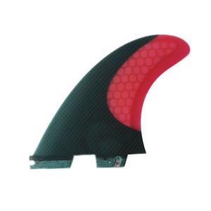 Nouveau pour FCS II ailette Box milieu de surf matériau en carbone fibre de verre ailette de planche de surf des ailettes trois régler FCS II-G5SF019