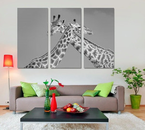 Zürafa Yağ Ev Dekor Için 3 ADET Poster Giclee Baskı Için Tuval Boyama Giclee Baskı Yaşam Hayvan HD Sanat Duvar Odası Büyük Hediye Jtdoj