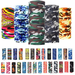 Outdoor Sports Seamless Camo Bandana Multifunktionstuch Stirnband Neckwarmer magischer Schal Hals Gamasche Fischen Face Shield Maske FY4049