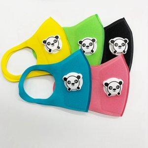Masque bouche mignon avec Forme Panda Breath Valve Anti-poussière enfants enfants Thicken éponge visage bouche Masque pollution PM2.5 Masque respiratoire RRA3105