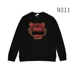 Мужчины Марка толстовки Толстовки Tiger Head Вышивка Luxury Hoodie Хип-хоп дизайнер толстовки Streetwear пуловер Tops B100330K