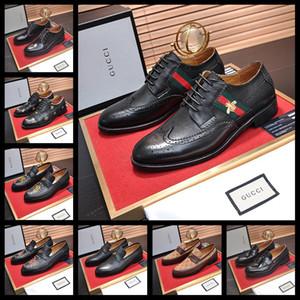 19WF Designers Sapatos Oxford formais para homens Wedding Shoes Couro Itália Pointed Toe Mens Dress Shoes Sapato Oxford Masculino