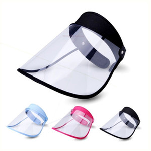 Fast Ship DHL 3-7 days delivery PET Face Shield Holder Oil-Splash Proof Anti-UV Protective Face Cover Transparent Facial Glass Cycling