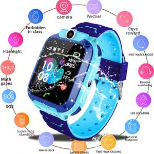 Потеряли В12 ОЛЕД Ребенок Ребенок трекер SOS мониторинг местоположения телефона умных детей весом детские смарт-часы, совместимые с iOS на Android