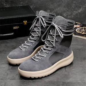 Дышащие мужские тактические сапоги замшевые кожаные мужские повседневные сапоги большой размер Мужской сезон 4 Kanye West Boots 9#20 / 20D50