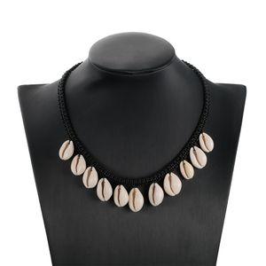 Nueva venta caliente mar shell choker collar joyería bohemia playa borla collar shell cadena para las mujeres pendant ocean