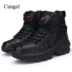 Cungel зима / осень Tactical Мужской Boots Открытого Army Combat Мужчина дышащего водонепроницаемые Походные ботинки Trekking Скалолазание