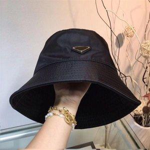 Высокое качество кожи письмо ведро шляпы Мода Складная Caps Черный дизайн ведро шляпу рыболова Бич Sun Visor Складной Cap