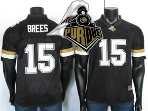 Purdue Boilermakers трикотажные изделия 15 Дрю Брис Джерси черный 2019 NCAA колледж футбол Джерси сшитые 150-й патч