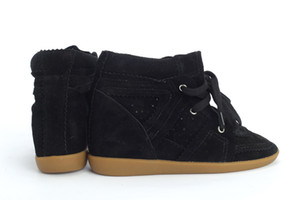 any kind can be customize Brand WomenIsabel Suede Bekett Wedge Sneakers Marant High Top Genuine Leather Casual Sports Shoes Ankle Boots