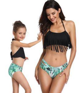 one piece gland split parent Enfant Maillot De Bain Bikini Costume split Enfants Femmes Filles vol sexy yakuda flexible Élégant Imprimé Léopard bikini Ensemble