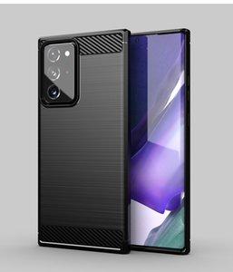 In fibra di carbonio disegno TPU Custodie Cellulari per Samsung Galaxy Note 20 Ultra S20 LG Caso Stylus G K51 K61 Stylo 6 Moto