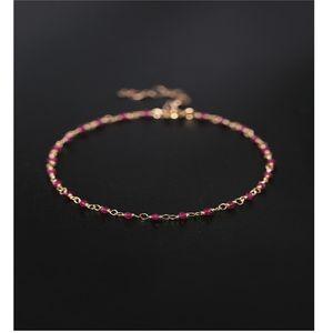 DAIMI Gypsophila ruby handmade bracelet female gemstones genuine 14K gold Injection bracelet custom CX200702