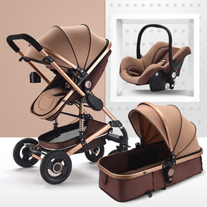 Çok fonksiyonlu Bebek Arabası 3 in 1 katlanabilir arabası bebek buggy Hafif Taşınabilir Seyahat Pram puset